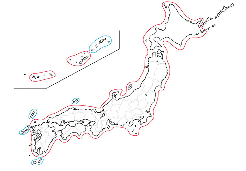 補正データの配信エリア(2014/09)